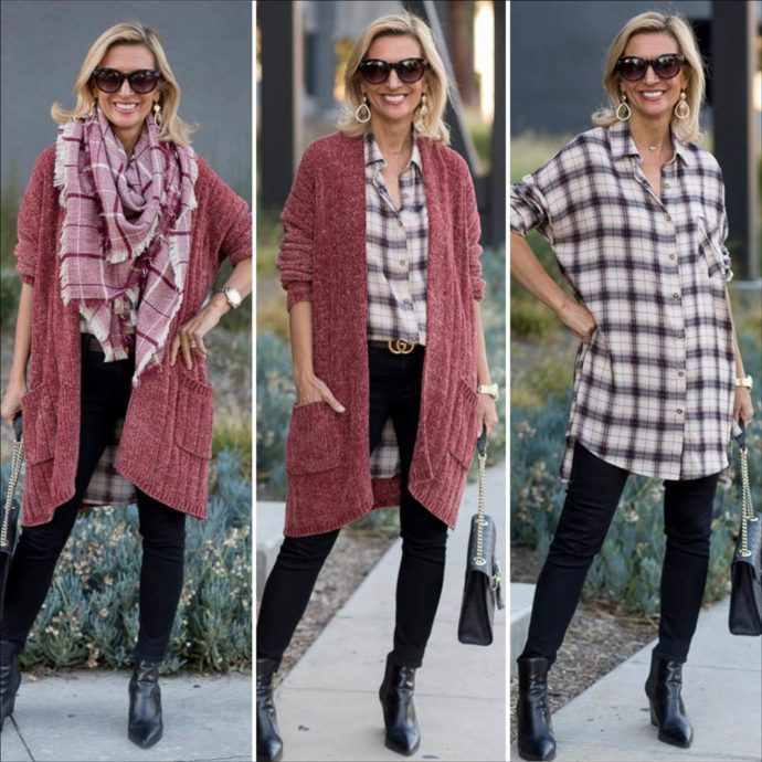 Fall Trend Alert Chenille Cardigans and Plaid Shirts Are In