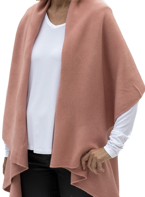 womens cape vest in rose color for fall