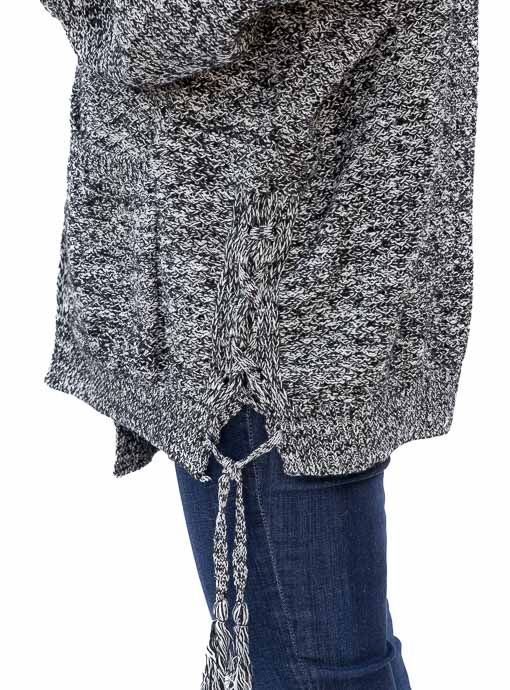 Womens Over sized Black and White Yarn Knit Cardigan