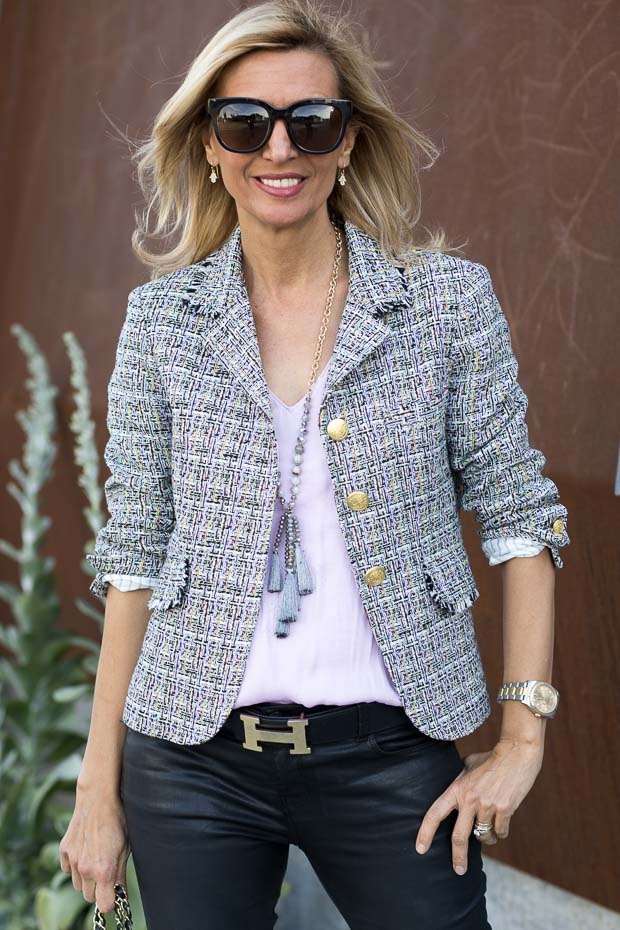 Chanel Inspired Boucle Jacket For women the verona blazer