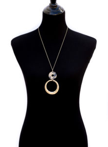 Gold Tone Chain Necklace With Tortoise And Gold Ring (3)
