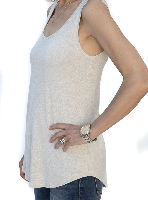 7451746d70cd87 Oatmeal Rayon Modal Knit Tank Top now available in our shop
