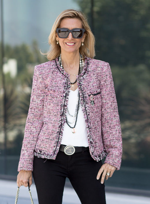 Pink Boucle Jacket is a classic