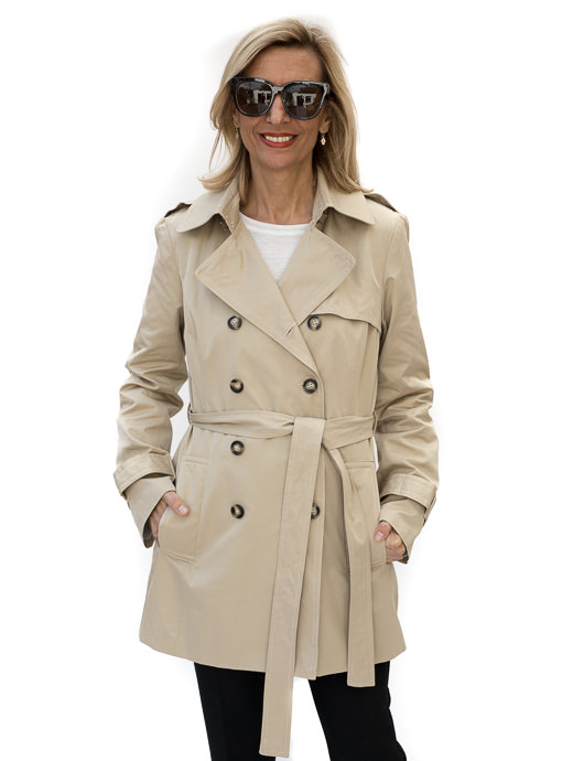 classic tan trench coat for women