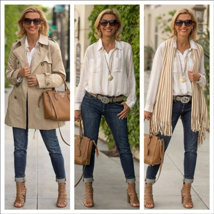 Womens Classic Casual Short Trench Coat
