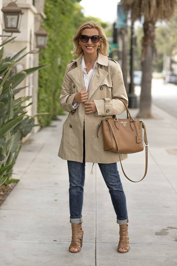 Womens Classic Casual Short Trench Coat unbelted