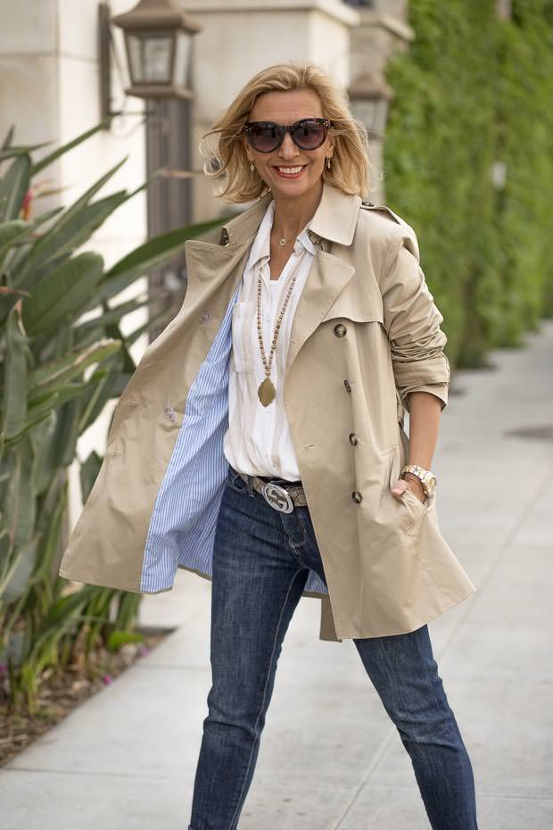 Womens Classic Casual Short Trench Coat with lining