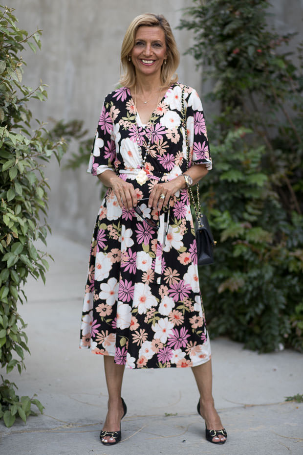 Womens rayon modal floral dress