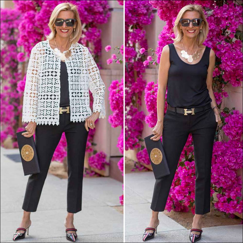 Cropped Lace Jacket For women Styled with Black and Gold