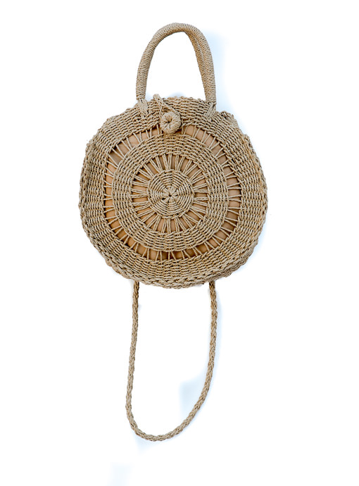 Natural Straw Round Hand Bag