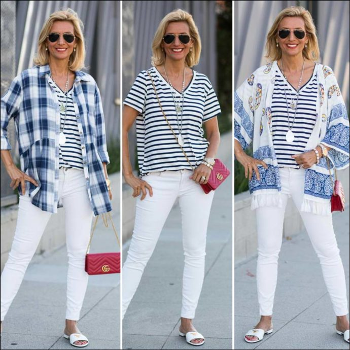 Red White And Blue Outfit ideas for July forth