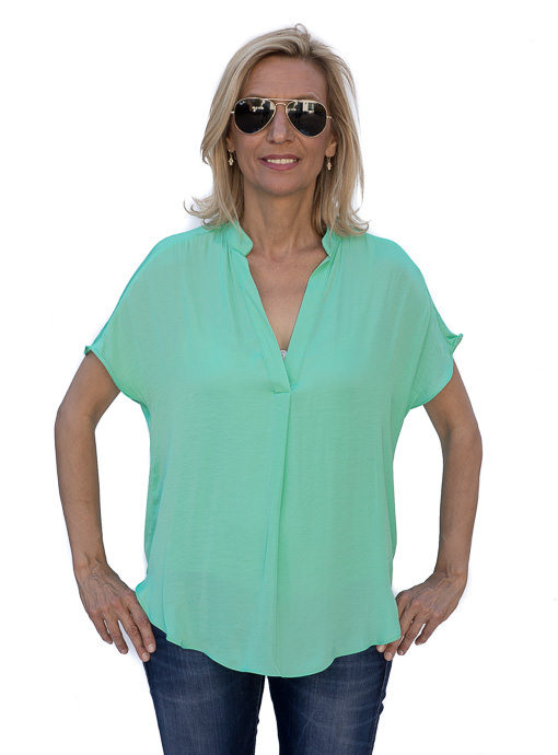 Womens Mint color short sleeve top