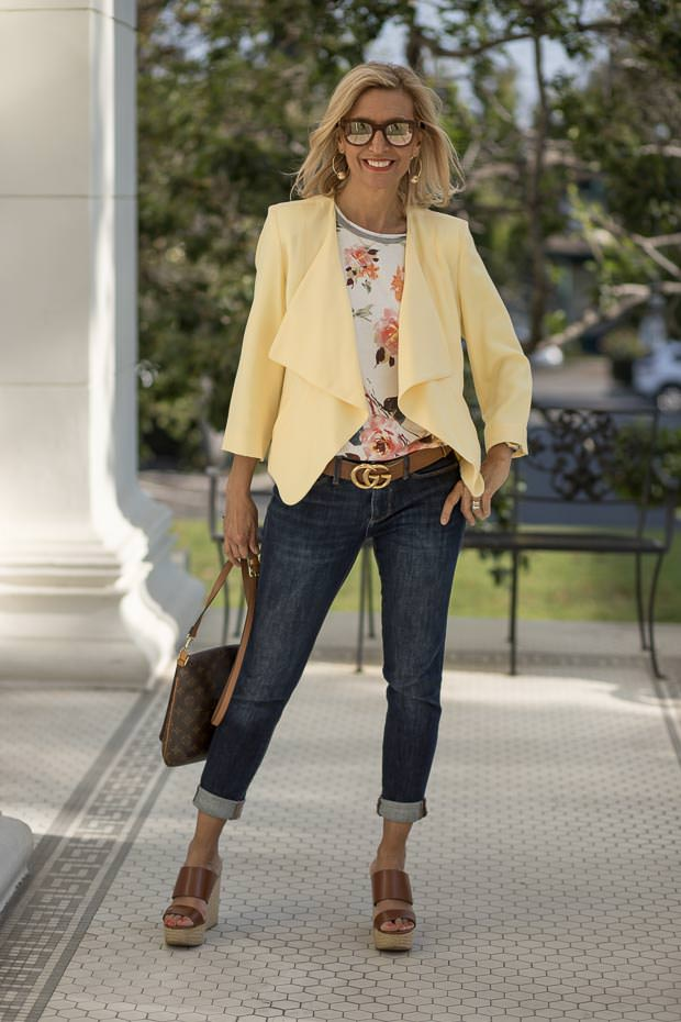 Womens light weight summer jacket yellow
