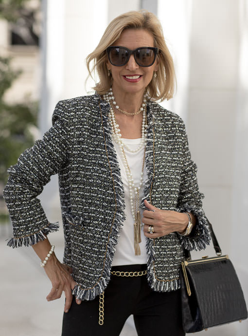 The Gabrielle Boucle Jacket