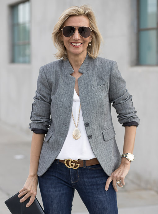 The Scott Herringbone Blazer
