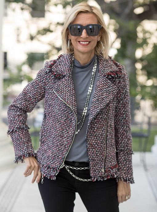 The Margot Boucle Moto Jacket