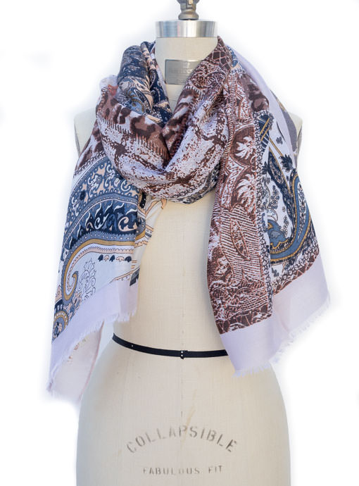Multi Color Patch Work Print Scarf Shawl