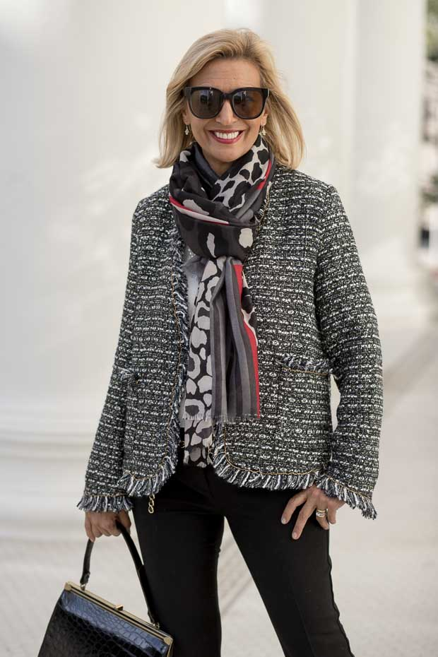womens classic boucle jackets for fall