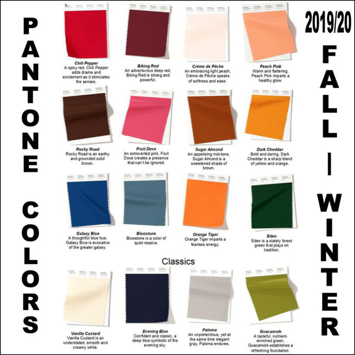 fall 2019 pantone colors like them or not