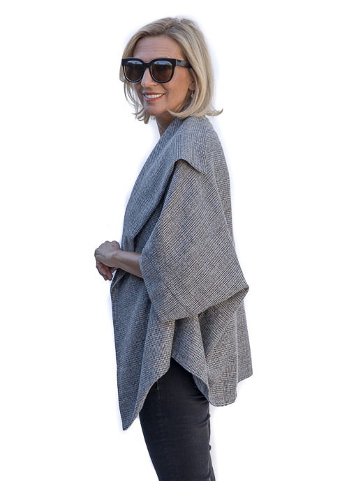 Glen Plaid Cocoon Jacket