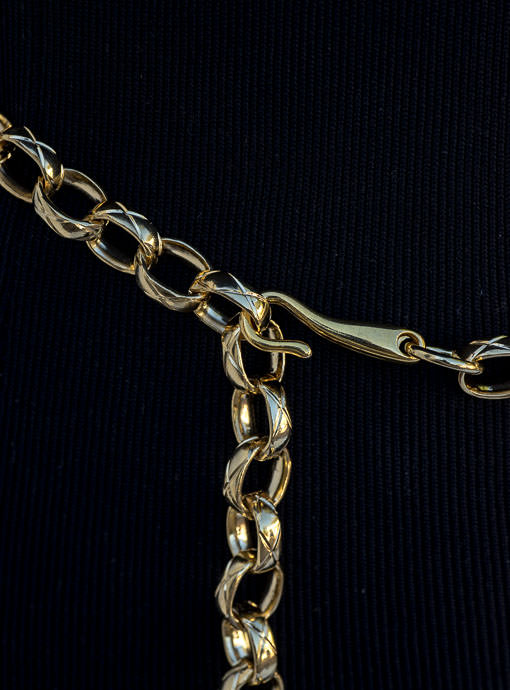 Gold Chain Link Belt with Horse Bit Buckle
