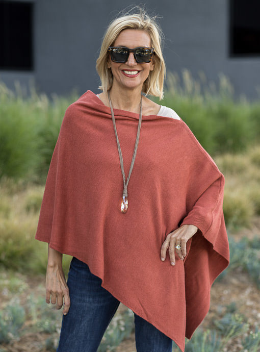 Rust Pull On Poncho