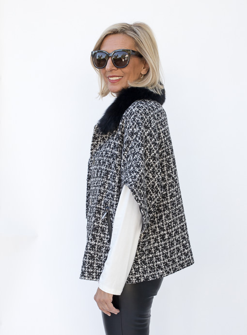 Giselle Boucle Jacket With Removable Faux Fur Collar