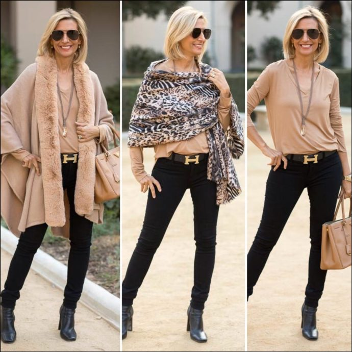 How-To-Style-Animal-Print-And-Faux-Fur-In-Black-And-Camel-for-a-womens-outfit-featured