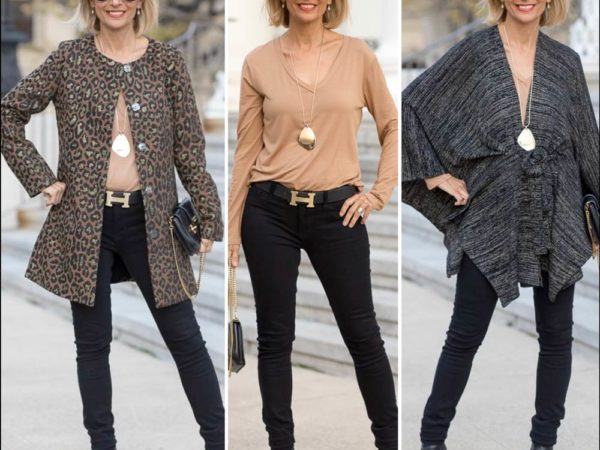 Black-And-Copper-Leopard-Jacqard-Womens-Jacket-Styled-with-a-camel-long-sleeve-top-featured