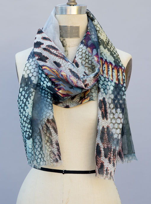 Multi Color Animal Print Scarf Shawl