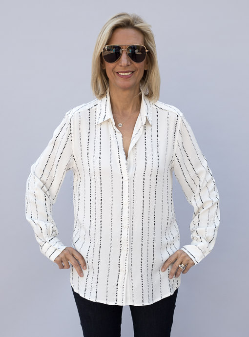 womens white rayon button front shirt