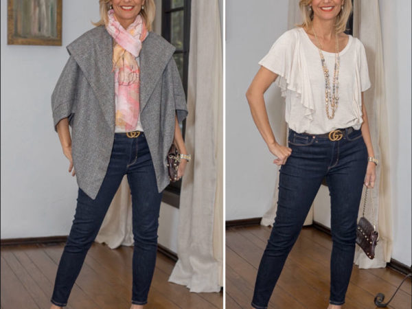 Womens Plaid Cocoon Jacket Styled for spring