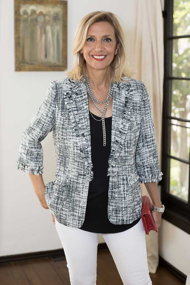 Sophie Boucle One Button Blazer