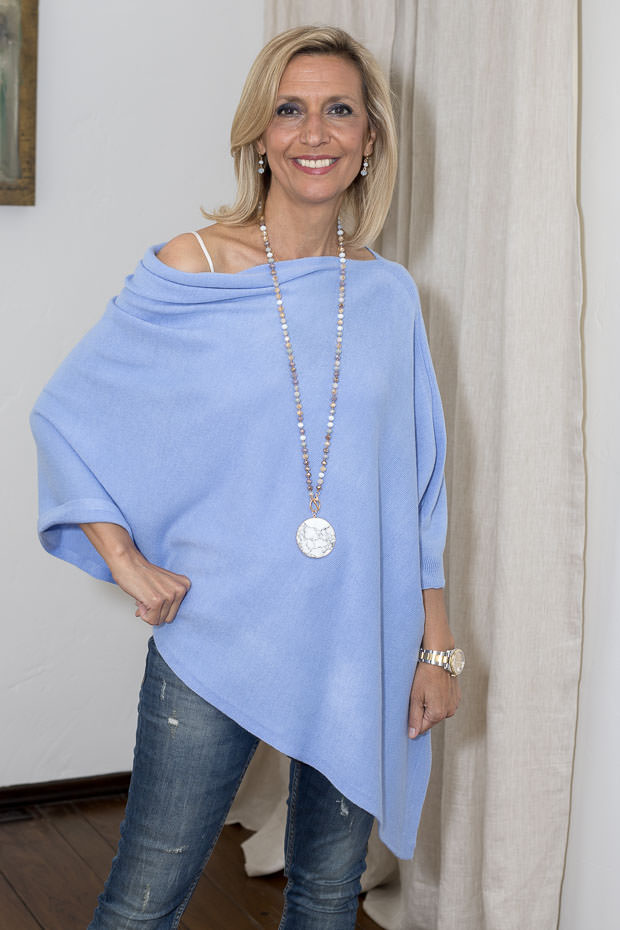 poncho for women Periwinkle blueolor