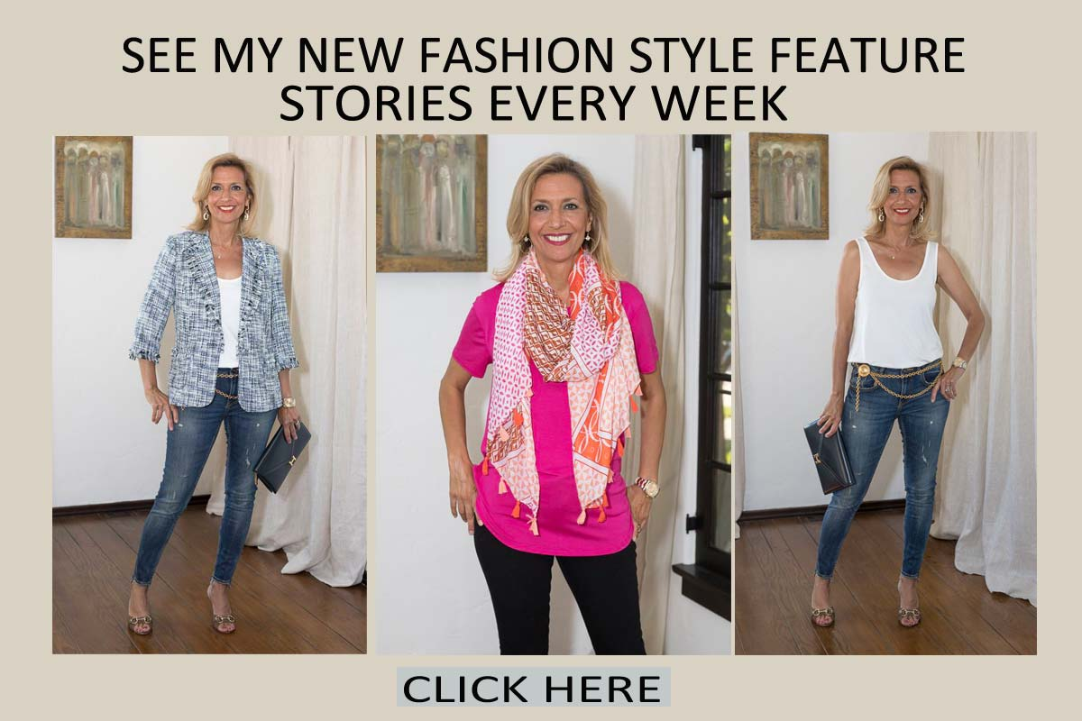 Fashion Blog for women over 40 current style and fashion features