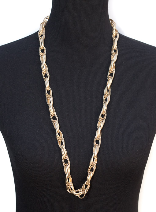 Matte Gold Multi Chain Link Necklace