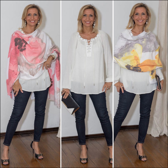 womens floral cashmere blend shawls for a cool summers eve