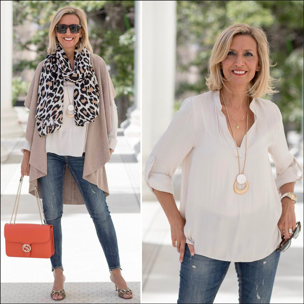 fashion and style for over 40 women - a transitional look