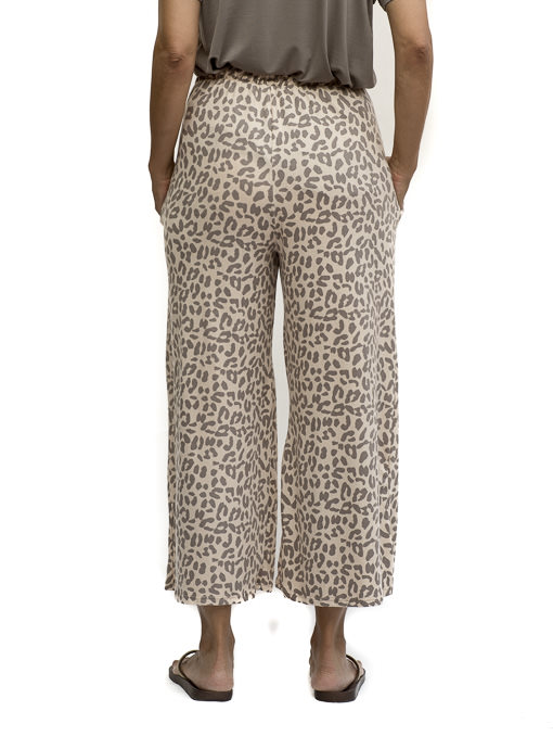 Tan Cocoa Leopard Print Loungewear Cropped Pants