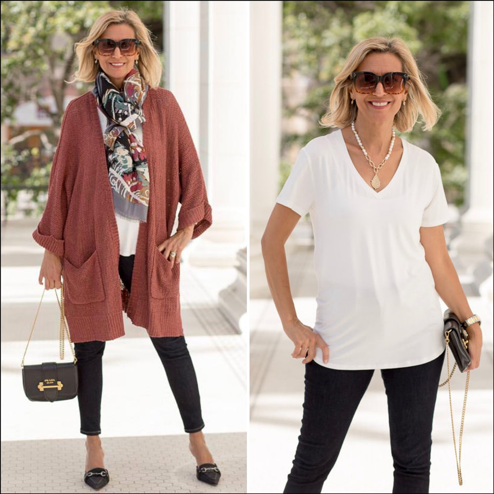 Womens long cardigan in a nutmeg color - perfect for transition to fall