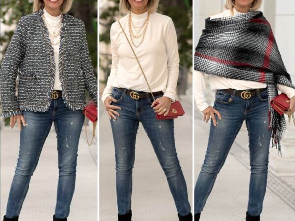 classic Boucle Jackets and Blazers worn in a casual way for women