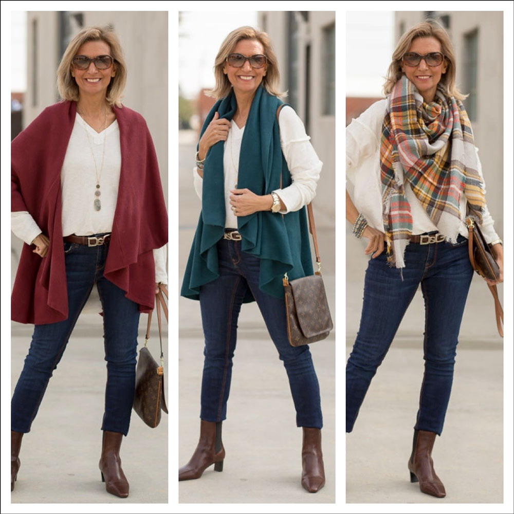 womens cape vests for fall in colors