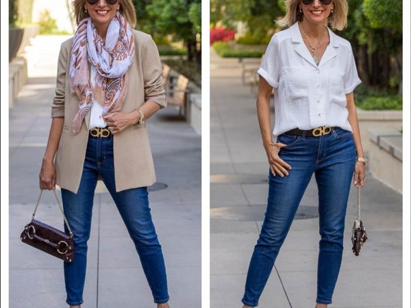 Womens-Classic-Combo-Of-Tan-Blazers-With-Crsip-White-Shirts-Featured