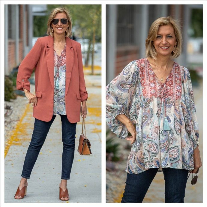 Mixing-A-Boho-Peasant-Blouse-With-a-BlazerFor-Women-featured