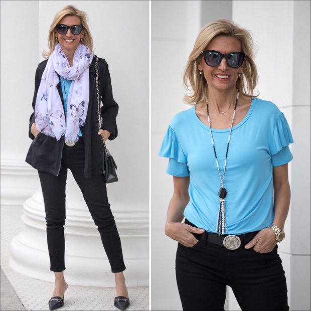 Blue and Black with Butterflies For Spring Style Feature