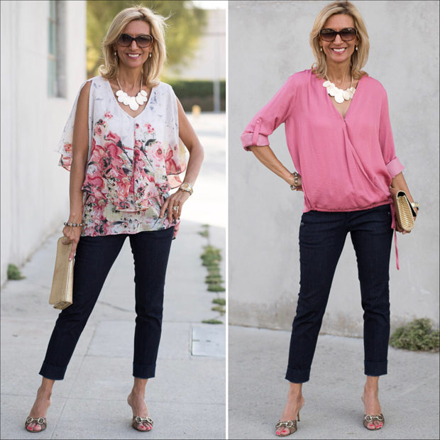 How to make a statement with two different blouses