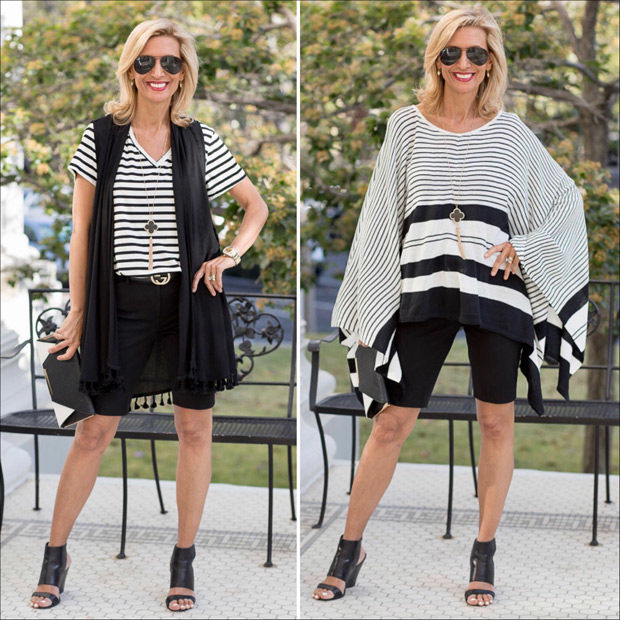 Black and white stripes for stylish summer Looks