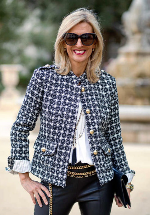 Womens Boucle jackets and blazers